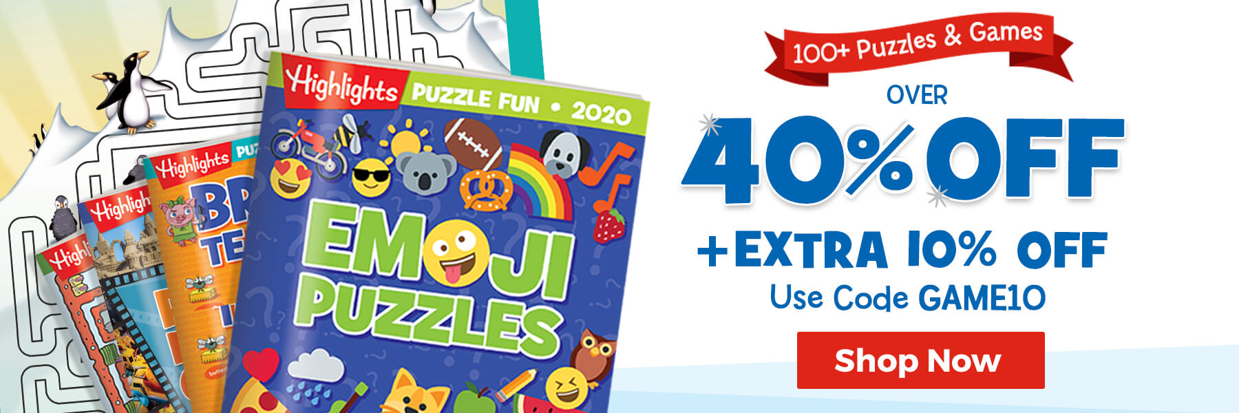 All puzzles & games are over 40% off – use code GAME10 to get an extra 10% off!