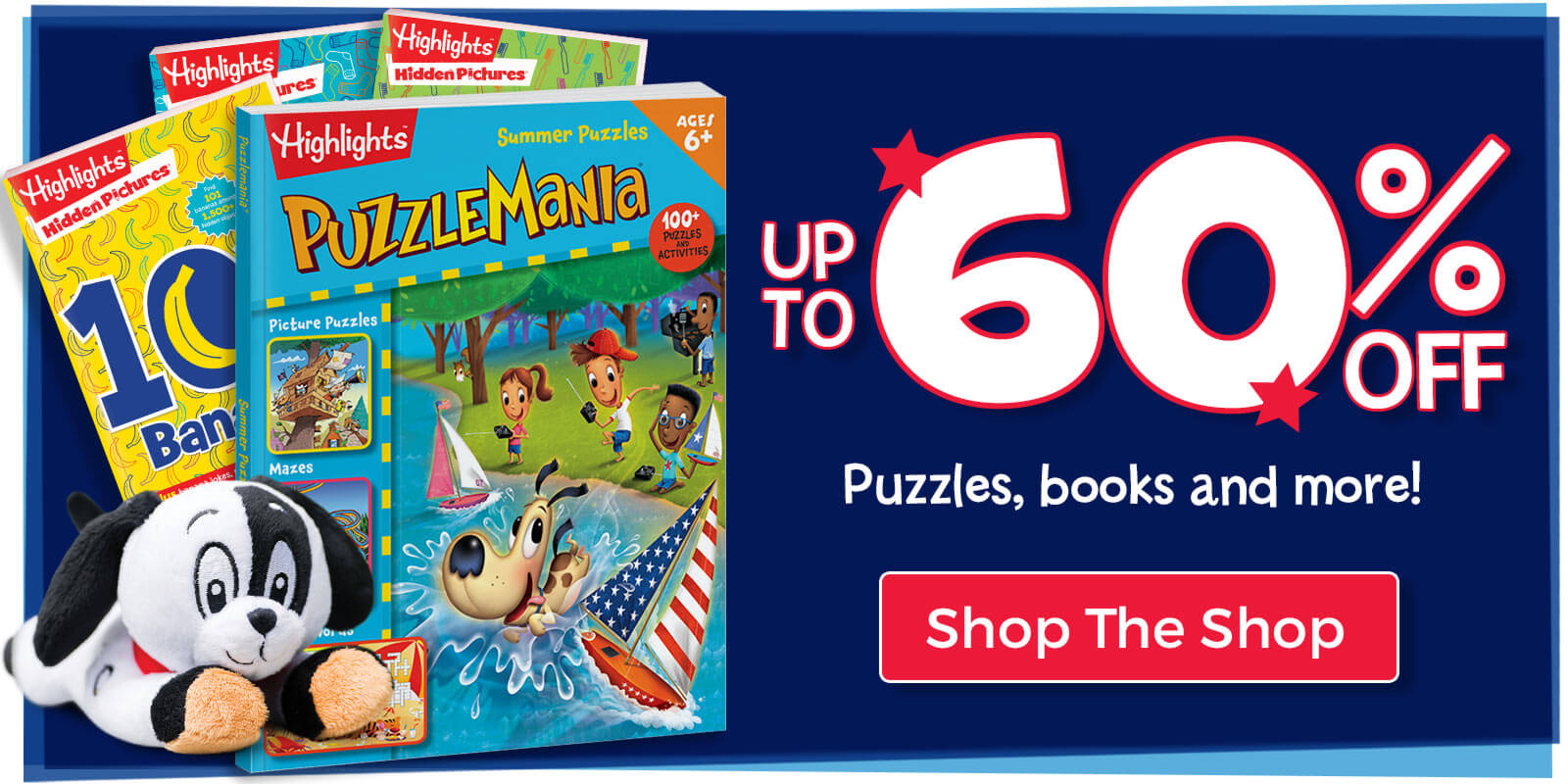 Up to 60% off puzzles, book and more