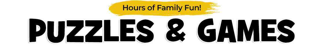 Shop our whole category of puzzles and game and find hours of family fun!