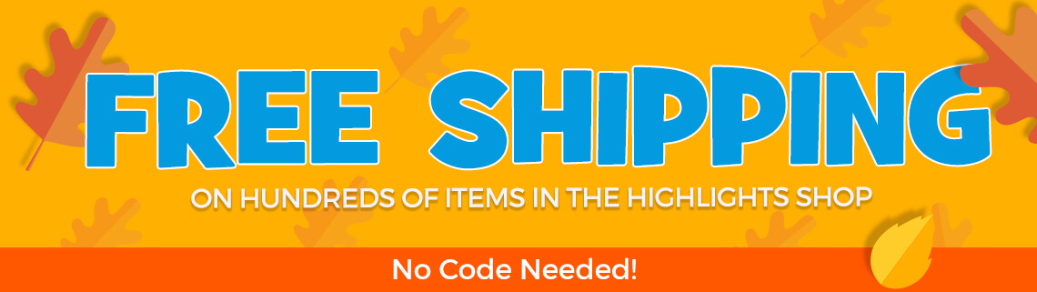Get free shipping in The Highlights Shop no code needed