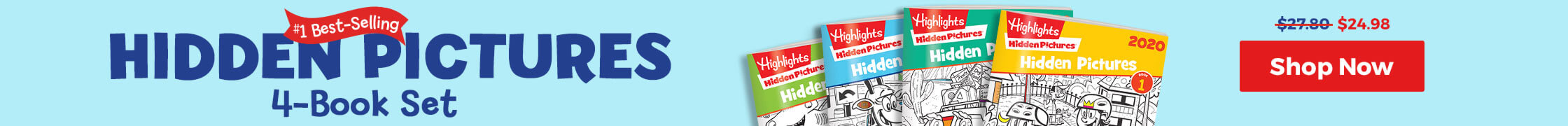Hidden Pictures 4-book sets are now just $24.98!