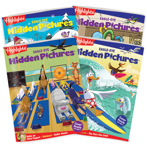 Hidden Pictures EAGLE-EYE 4-Book Set