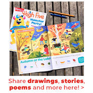 Share kids' drawings, stories, poems and more!