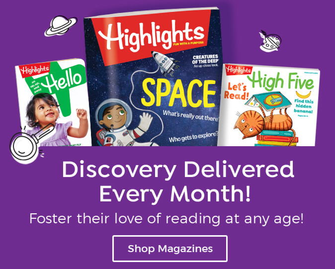 Get new discoveries delivered every month with magazines for kids of all ages.