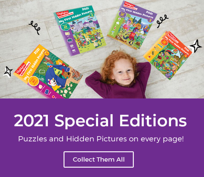 Shop our 2021 Special Editions and always have more Hidden Pictures and Puzzle Fun at your fingertips.