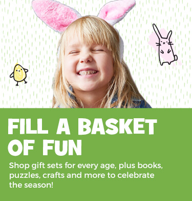 Fill their baskets with gift sets, books, puzzles, crafts and more for every age!