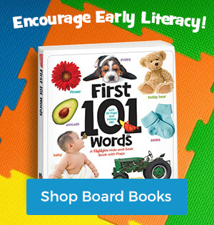 Board books encourage early literacy!