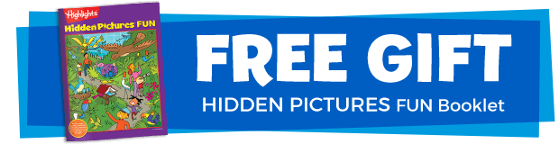 Free gift! Hidden Pictures Fun booklet.