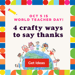 Celebrate World Teacher Day on October 5 with 4 crafty ways to say thank you.