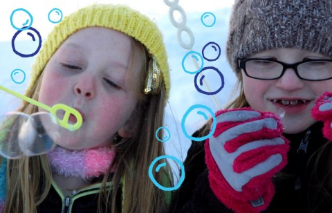 make frozen bubbles