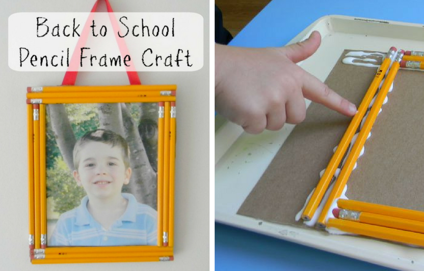 Glue classic number 2 pencils together to make this adorable school picture frame.