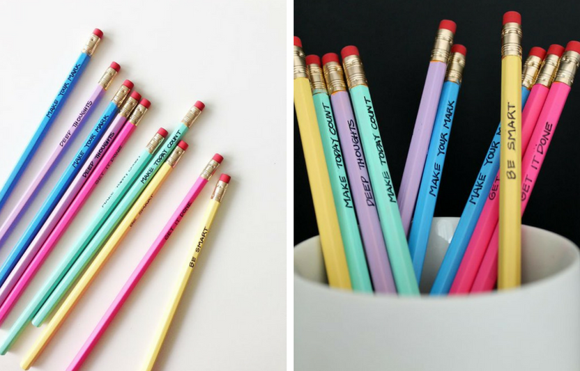 Spruce up pencils with a coat of paint and cute phrases sure to motivate!