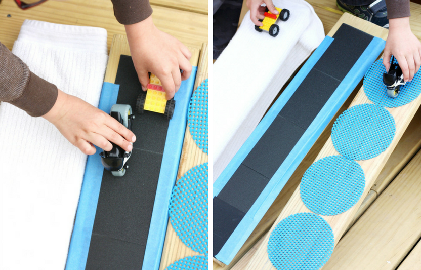 This fun, hands-on experiment is a great way to introduce kids to friction, ramps, and angles!