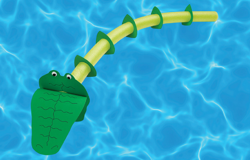 This craft is perfect for the kids who never get out of the pool in the summer! Our pool noodle alligator is kind of the perfect art activity as it uses waterproof materials, simple instructions, and you get a zany pool creature at the end.