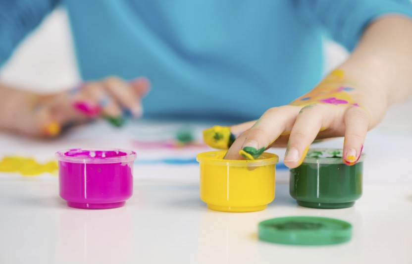 Try these easy finger paints made from ingredients you already have around the house. They're a fun way to get messy and engage your kids in sensory play.