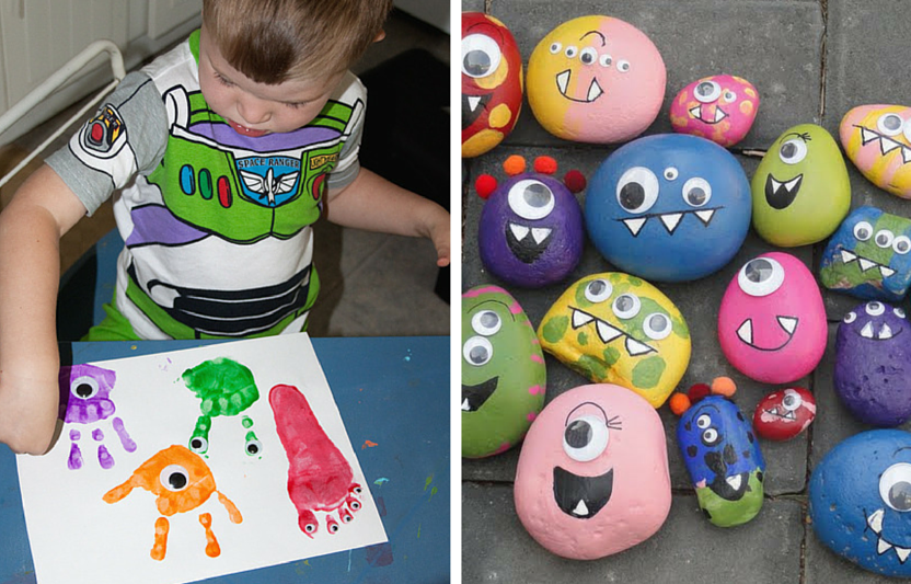 Not all monsters are scary! Create these cute monster crafts with the help of glue and a handful of wiggle eyes.