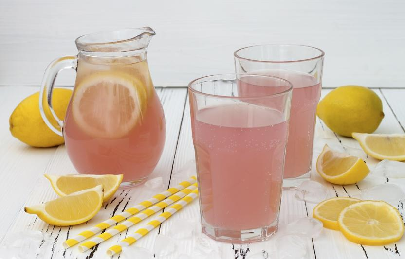 Mix it, pour it, guzzle it. Homemade pink lemonade hits the spot on warm summer days. Your kids will love squeezing juice out of the lemons!