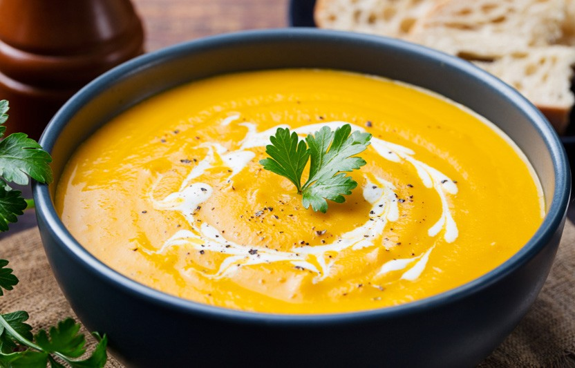 Smooth and Creamy Pumpkin-Patch Soup