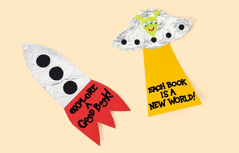 Spaceship Bookmarks