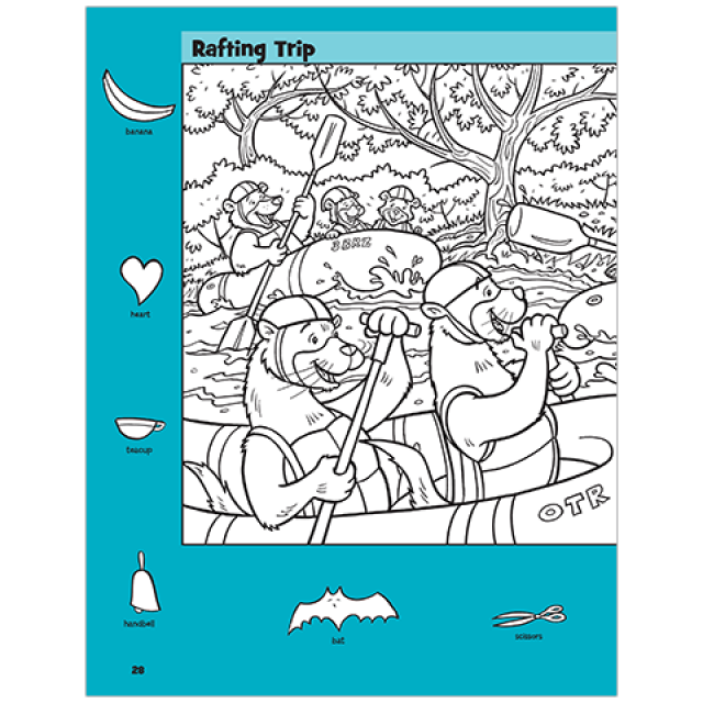 Rafting Trip Hidden Pictures Puzzle