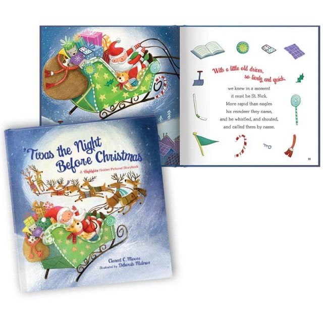 'Twas the Night Before Christmas book and story page