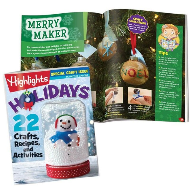 Highlights holiday craft issue and ornament craft page