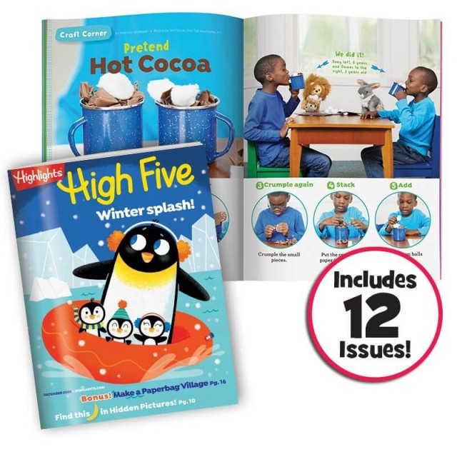High Five magazine and 2-page hot cocoa craft activity