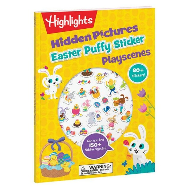 Hidden Pictures Easter Puffy Sticker Playscenes book