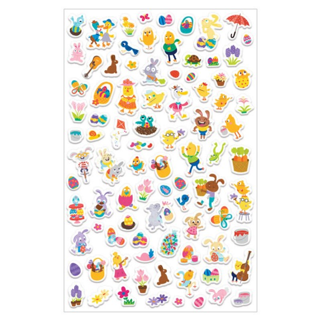 Sheet of puffy stickers