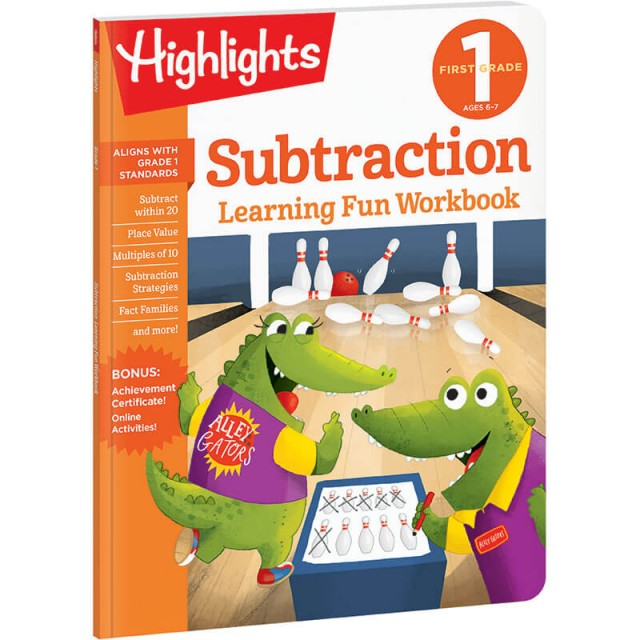 First Grade Learning Fun Workbook: Subtraction