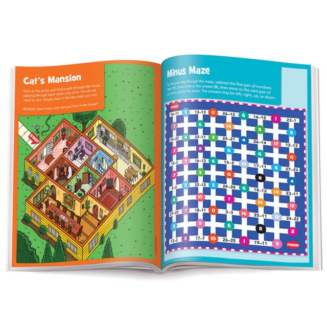 """Cat's Mansion"" maze and number maze"