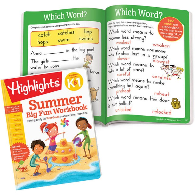 Summer Big Fun Workbook and lesson pages
