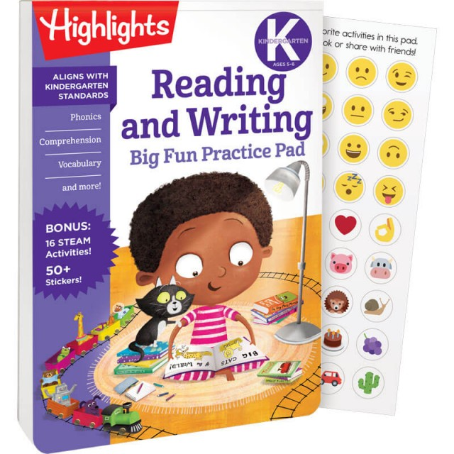 Kindergarten Big Fun Practice Pad: Reading and Writing book and stickers