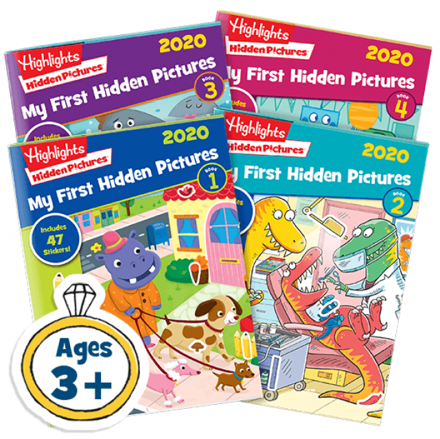 My First Hidden Pictures 4 Book Set