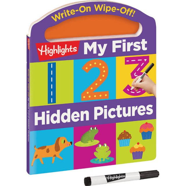 Write-On Wipe-Off My First 123 Hidden Pictures Book with dry-erase marker