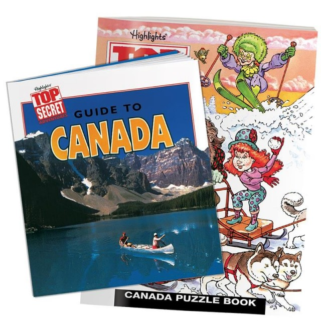 Canada country guidebook and puzzle book