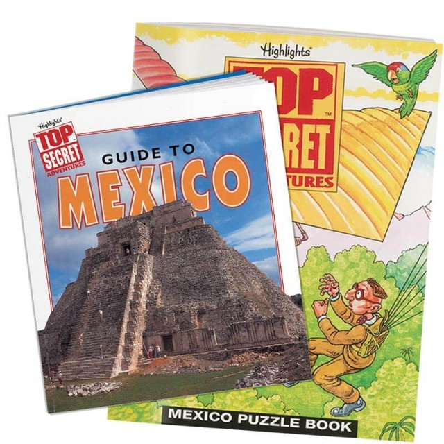 Mexico country guidebook and puzzle book