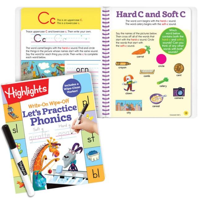 Let's Practice Phonics book and practice for letter C