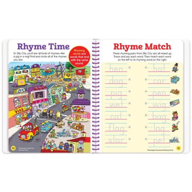 A puzzle full of rhyming words and a rhyme matching game