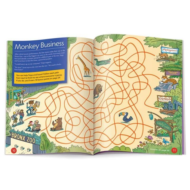A maze featuring the Bronx Zoo