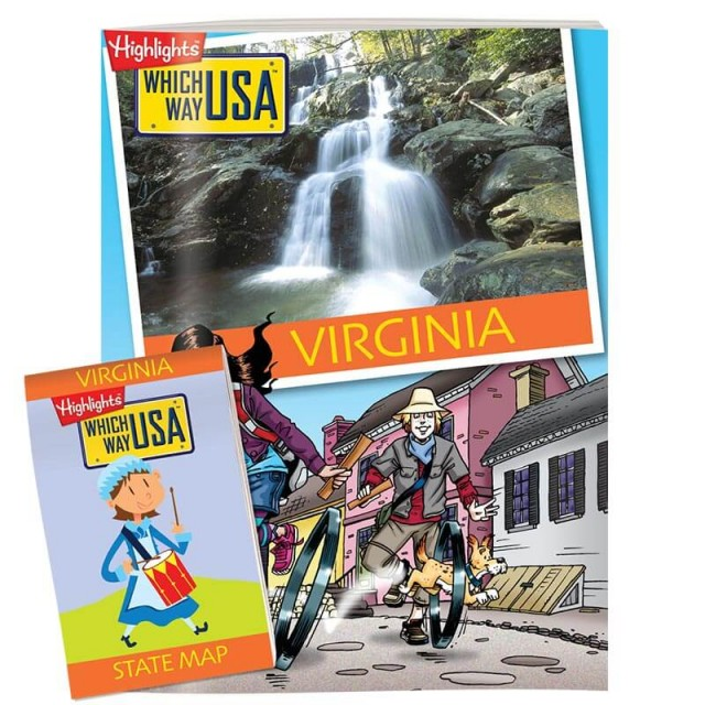 The Virginia state puzzle book and folded map