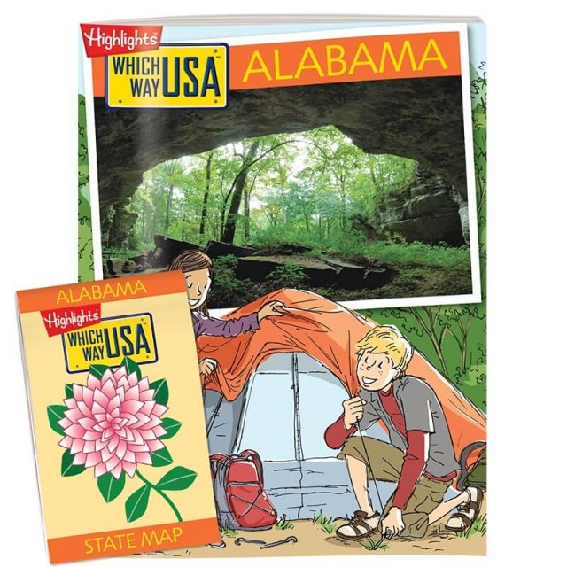 The Alabama state puzzle book and folded map
