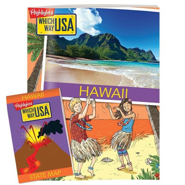 The Hawaii state puzzle book and folded map