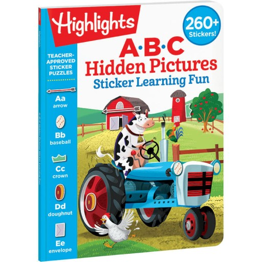 ABC Hidden Pictures Sticker Learning Fun book