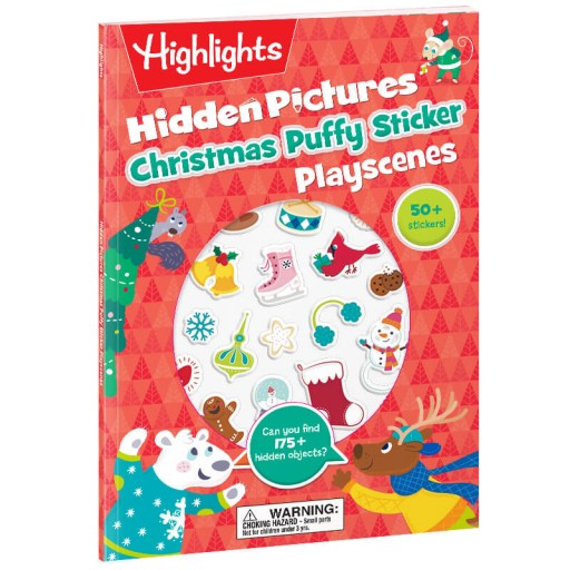Hidden Pictures Christmas Puffy Sticker Playscenes book
