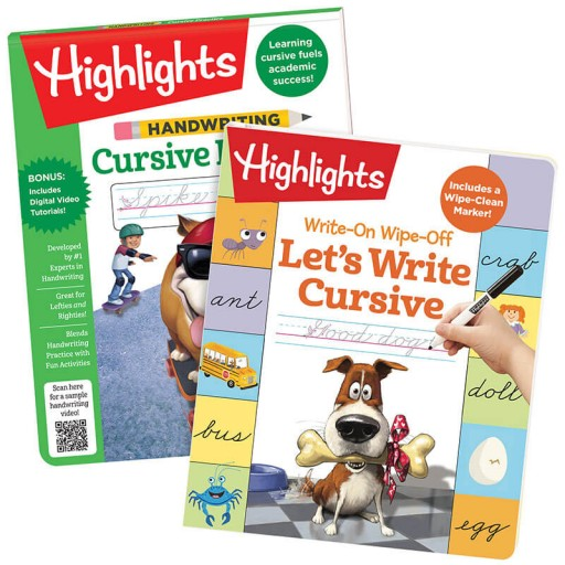 Cursive Learning Pack with 2 books