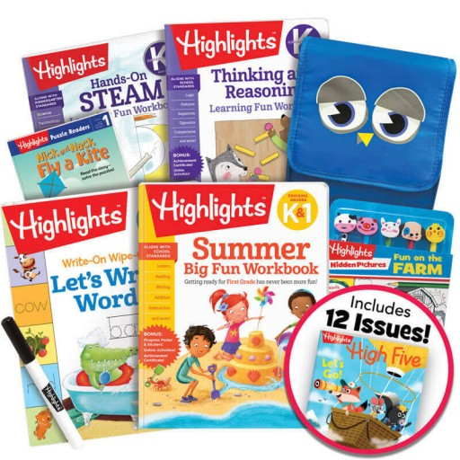 Deluxe Summer Learning Pack: K-1, with 5 books, lunch bag, pencil toppers kit and magazine subscription