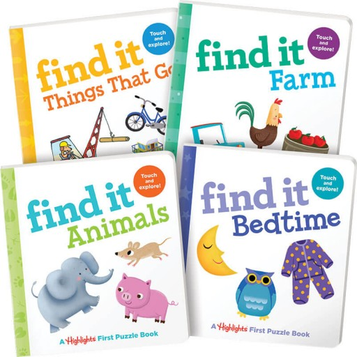 Find It Board Books 4-Book Set
