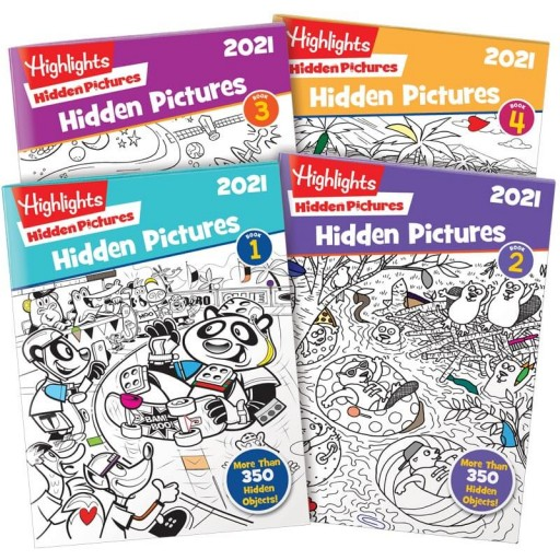 Hidden Pictures 2021 4-Book Set