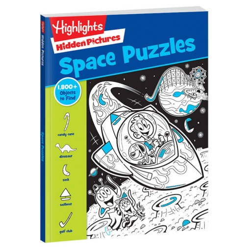 Hidden Pictures Space Puzzles paperback book
